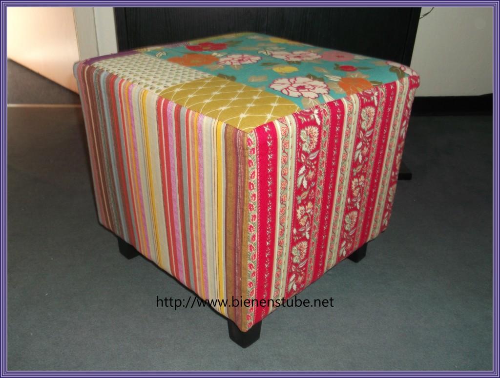 hocker cholet im patchwork design bienenstube. Black Bedroom Furniture Sets. Home Design Ideas